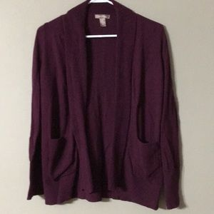 Burgandy Sweater Cardigan